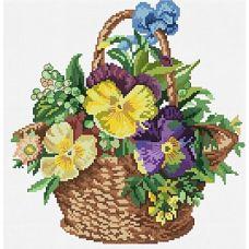 Набор для вышивания крестом Цветочная корзинка, 34x35, Белоснежка