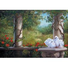 Набор для вышивания бисером История любви, 37x49 (26x37), Матренин посад