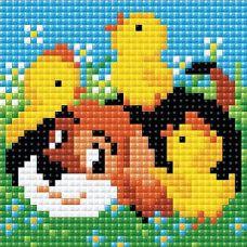 Алмазная мозаика Дружок, 10x10, полная выкладка, Риолис