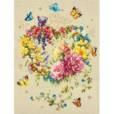 Набор для вышивания крестом Нежность сердца, 26x34, Чудесная игла