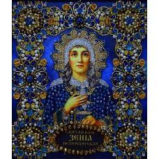 Набор для вышивания хрустальными камнями Святая Ксения, 16,5x19, Хрустальные Грани