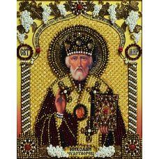 Набор для вышивания хрустальными камнями Святой Николай Чудотворец, 23,5x30,5, Хрустальные Грани