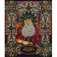 Набор для вышивания хрустальными камнями Святой Максим, 16,5x19, Хрустальные Грани