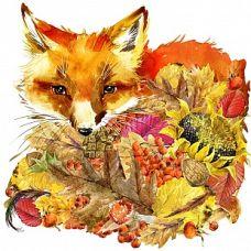 Набор для вышивания бисером Осенний лис, 28x34 (23x24), Матренин посад