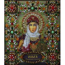 Набор для вышивания хрустальными камнями Святая Ольга, 16,5x19, Хрустальные Грани