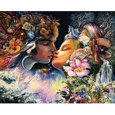 Набор для вышивания крестом Фантазия поцелуя, 76x92, Белоснежка