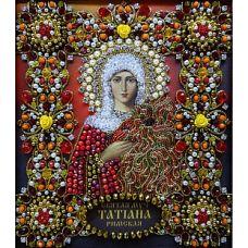 Набор для вышивания хрустальными камнями Святая Татьяна, 16,5x19, Хрустальные Грани