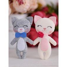 Набор для шитья куклы Котята Снежок и Том, 16 ,Тутти