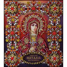 Набор для вышивания хрустальными камнями Святая Наталия, 16,5x19, Хрустальные Грани