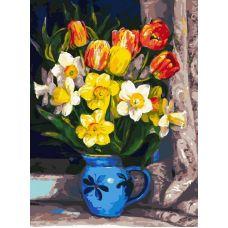 Живопись по номерам Тюльпаны, 30x40, Белоснежка
