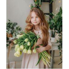 Живопись по номерам Девочка с цветами, 40x50, Paintboy, GX30450