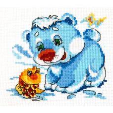 Набор для вышивания Белый медвежонок, 12х11, Чудесная игла