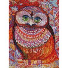 Алмазная мозаика Медовая сова, 30x40, полная выкладка, Белоснежка
