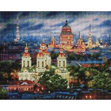 Алмазная мозаика Все краски вечера. Санкт-Петербург, 40x50, полная выкладка, Белоснежка