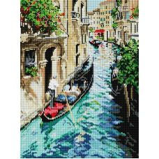 Алмазная мозаика Прогулка по Венеции, 30x40, полная выкладка, Белоснежка