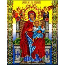 Набор для вышивания Богородица Всецарица, 19,5x25, Вышиваем бисером