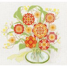 Набор для вышивания крестом Солнечный букет, 35,5x37,5, Золотое руно