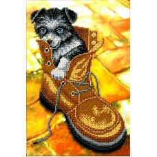 Набор для вышивания Лайчонок, 19x27, Вышиваем бисером
