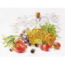 Набор для вышивания крестом Оливковый натюрморт, 19x13, Алиса