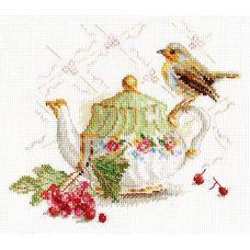 Набор для вышивания крестом Нечаянная гостья, 18x15, Алиса