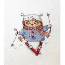 Набор для вышивания крестом Лыжница, 15x15, НеоКрафт