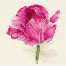 Набор для вышивания крестом Тюльпаны. Малиновое сияние, 22x26, Алиса