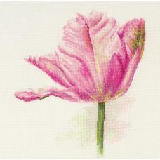 Набор для вышивания крестом Тюльпаны. Нежно-розовый, 22x26, Алиса