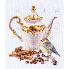 Набор для вышивания крестом Ценитель кофе, 15x18, Алиса