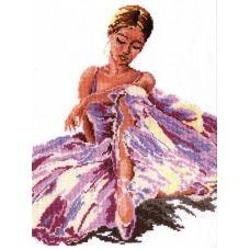 Набор для вышивания крестом Балерина, 24x30, Чудесная игла