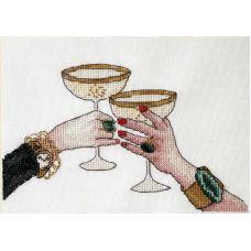 Набор для вышивания крестом За встречу, 12x17, НеоКрафт