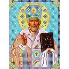 Набор для вышивания бисером Святой Николай Угодник, 12,5x16, Каролинка