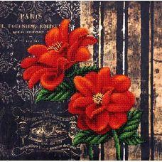 Набор для вышивания бисером Французские цветы, 29x29, Магия канвы