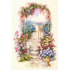 Набор для вышивания крестом Садовая калитка, 23x24, Чудесная игла