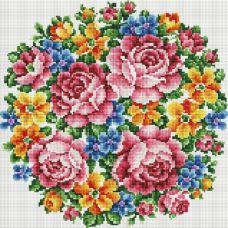 Алмазная мозаика Букет Большое счастье, 40x40, полная выкладка, Белоснежка