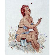 Набор для вышивания крестом Малиновый рай, 20x25, НеоКрафт