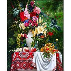 Мозаика стразами Букет, 40x50, полная выкладка, Алмазная живопись