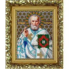 Набор для вышивания с рамкой Святой Николай Угодник, 9,5x12,5, Вышиваем бисером