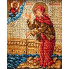 Набор для вышивания бисером Святая Ксения Петербургская, 12x14,5, Кроше