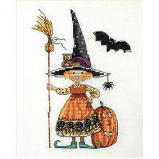 Набор для вышивания крестом Ведьмочка, 13x18, НеоКрафт