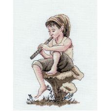 Набор для вышивания крестом Пастушок, 13x21, НеоКрафт