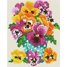 Алмазная мозаика Букетик из сада, 20x25, полная выкладка, Белоснежка