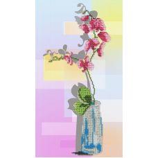 Набор для вышивания бисером Орхидея , 32x18, МП-Студия