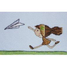 Набор для вышивания крестом Самолетик, 8x15, НеоКрафт