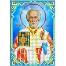 Набор для вышивания бисером Святой Николай Угодник, 12,3x18,2, Каролинка