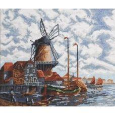 Набор для вышивания Голландский пейзаж, 28x24, Палитра