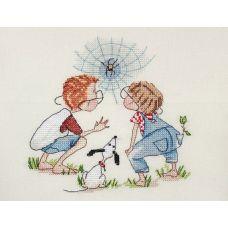 Набор для вышивания крестом Паучишко, 15x15, НеоКрафт