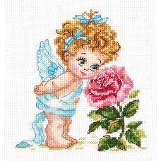 Набор для вышивания крестом Ангел нашего счастья, 12x14, Чудесная игла