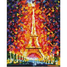 Алмазная мозаика Париж - огни Эйфелевой башни, 20x25, полная выкладка, Белоснежка