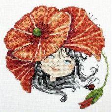 Набор для вышивания крестом Маковый цвет, 15x15, НеоКрафт