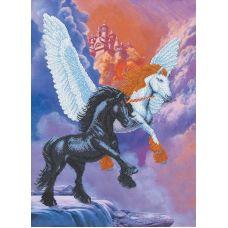 Набор для вышивания бисером Замок в облаках, 48x35, Магия канвы